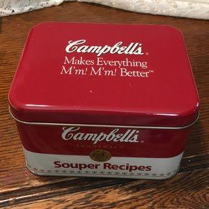 Campbell's Soup Recipes Tin Box